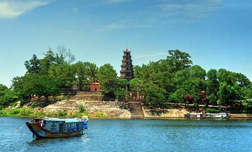 Thien Mu Pagoda on the Perfume River